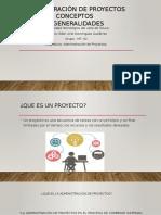 Administración de Proyectos Conceptos EDER