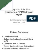 Konsep Dan Pola Pikir Sinkronisasi RPJMD Dengan RPJMN Rev