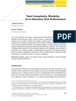 Speaking Task Complexity Modality and Aptitude in Narrative Task Performance