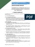 Especificaciones Tecnicas - Nuevo Horizonte