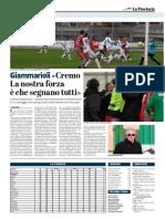La Provincia Di Cremona 06-03-2017 - Calcio Lega Pro - Pag.1