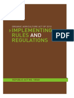 RA10068 Regulations