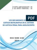 1. Los Mecanismos de La Justicia Restaurativa en El Sistema de Justicia Penal Para Adolescentes