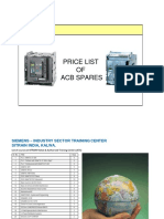Siemens Acb Spares Parts List New