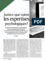 Que Valent Les Expertises Psychologiques?