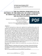 ENHANCING THE MACHINING PERFORMANCE OF HSS DRILL IN THE DRILLING OF GFRP COMPOSITE BY REDUCING TOOL WEAR THROUGH WEAR MECHANISM MAPPING