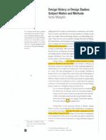 Margolin Design History or D Studies