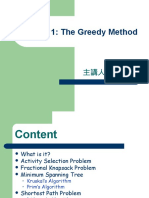 Lecture 1 --- The Greedy Method