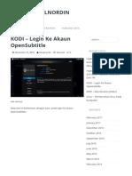 KODI - Login Ke Akaun OpenSubtitle - Blog@Faizalnordin