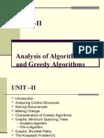 Unit II(Greedy Algorithms)