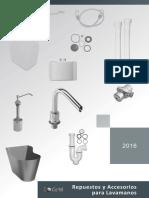 Catalogo Accesorios y Repuestos Para Lavamanos