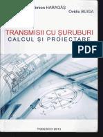 Transmisii Cu Șuruburi - Calcul Și Proiectare - Simion Haragâș