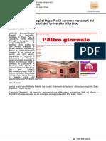 Tre preziosi orologi di Pio IX saranno restaurati dai laboratori dell'Università di Urbino - L'Altro Giornale.it, 4 marzo 2017
