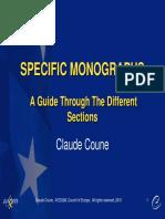 Claude Coune - Specific Monographs