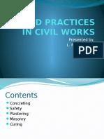Good Practices in Civil Works