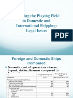 Domestic-Foreign Ships Levelling the Playing Field - Presentation by Atty Pete Aguilar