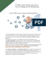 La Explicación Más Clara Sobre Que Es y Cómo Funciona Un Negocio de Marketing Multinivel