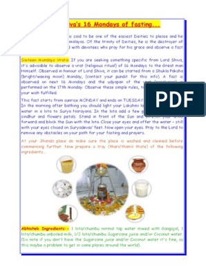 Lord-Shivas-16-Mondays-of-fasting pdf | Prayer | Shiva