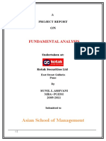 Fundamental Analysis of Kotak 1