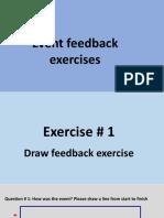 Event feedback exercises