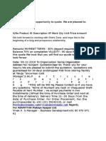 RFB Quatation format