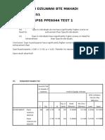 Jawapan Test 1 Statistik