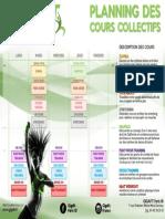 Planning Cours Co Paris 18
