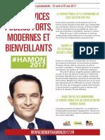Tract Benoit Hamon Service Public