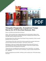 Berita Penipuan ATM - MAMA