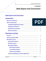 Data Export Conv