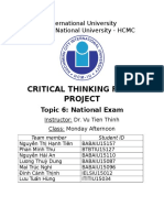 Critical Thiking Essay Group 11