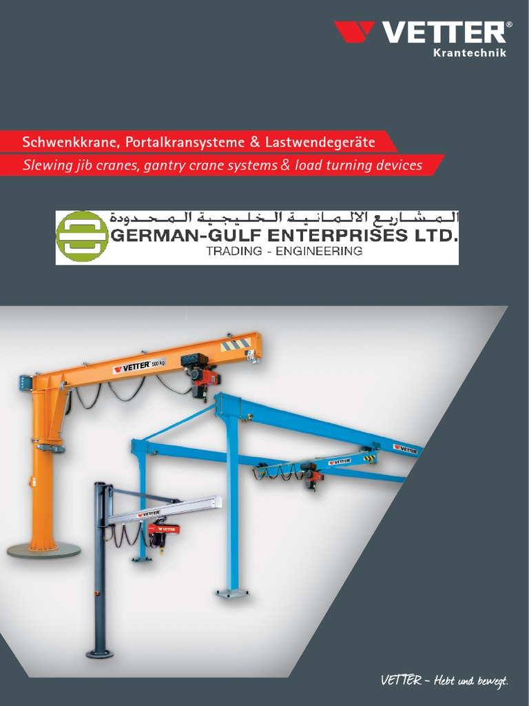Vetter Material Handling Equipments German Gulf Enterprises Ltd Diagram Potain Tower Crane Specification Software Block Basic Machine Industrial Equipment