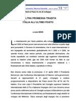 Aiuti ai Paesi in via di sviluppo - ITALIA ALL'ULTIMO POSTO (2005)