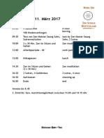Zeitplan Sangha-Zen-Tag Am 11.3.17