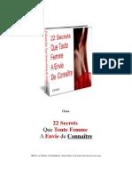 22 Secrets Que Toute Femme A Envie de Connaître