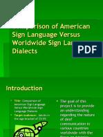 Comparison of Asl