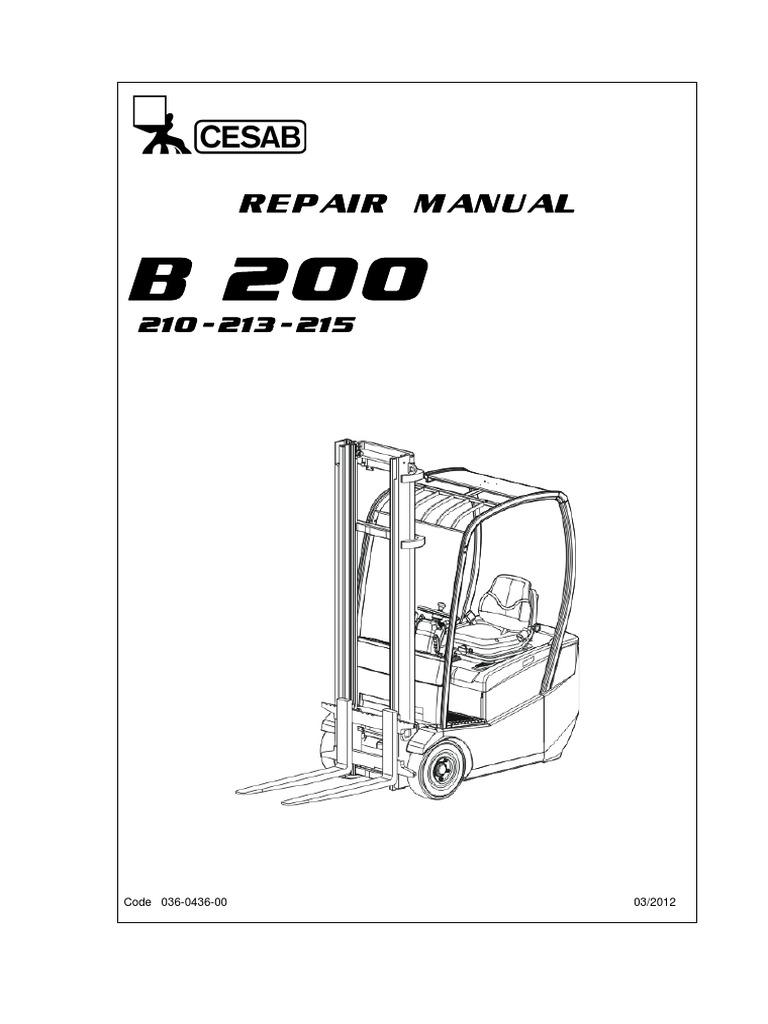 repair manual b200 truck battery electricity