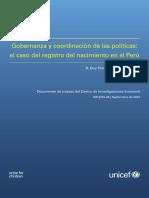 INNOCENTI Perú Gobernanza