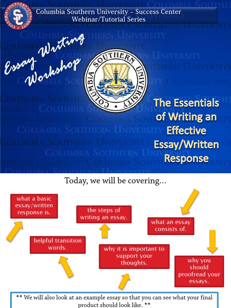 the steps involved in writing a good essay