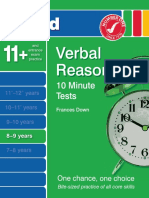 Verbal Reasoning 10 Minutes Tests 8-9