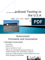 Standardized Testing in the USA