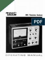 Eico 685 Operating Manual
