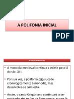 2- A Polifonia Inicial