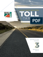 Sanral adjusts e-toll and plaza tariffs