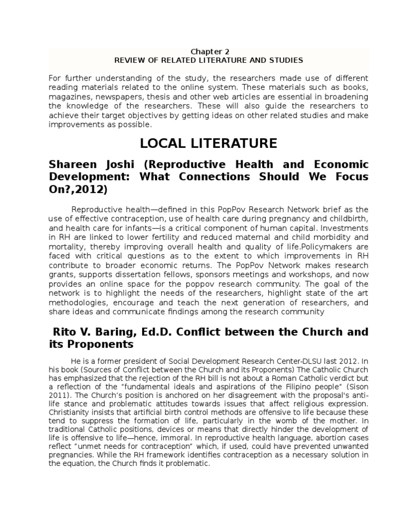 example of review of related literature and studies