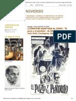 Leer El Universo_ Literatura Adaptada Al Cómic. _el Pozo y El Péndulo_, De Edgar Allan Poe. Por José Ortiz (Cartagena, España