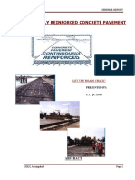 Seminar Continuously Reinforced Concrete Pavement