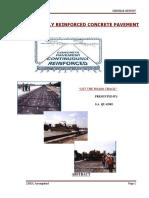 Seminar Continuously Reinforced Concrete Pavement