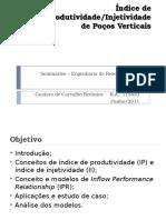 Indice de Produtividade Poço Vertical (Exercicio)