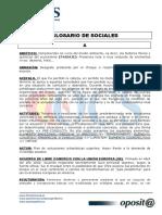 Glosario de Terminos Relacionados Con Ciencias Sociales